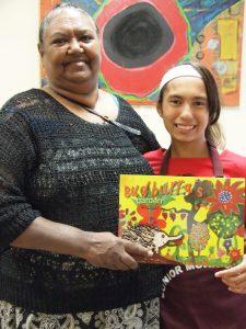 Cherbourg artist Venus Rabbitt supported her granddaughter Mirandah Bond-Blackman