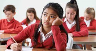 School exam girl