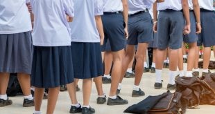 secondary education students in uniform