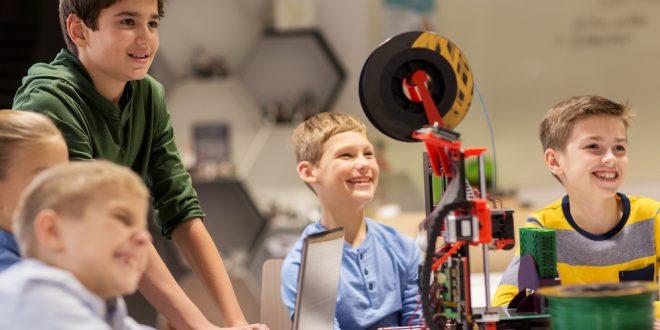 3d printer at robotics school