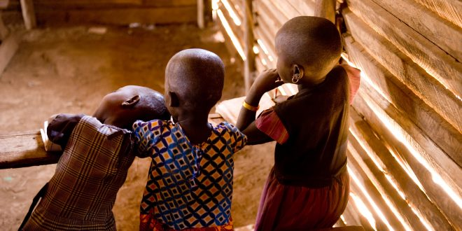 African children at school