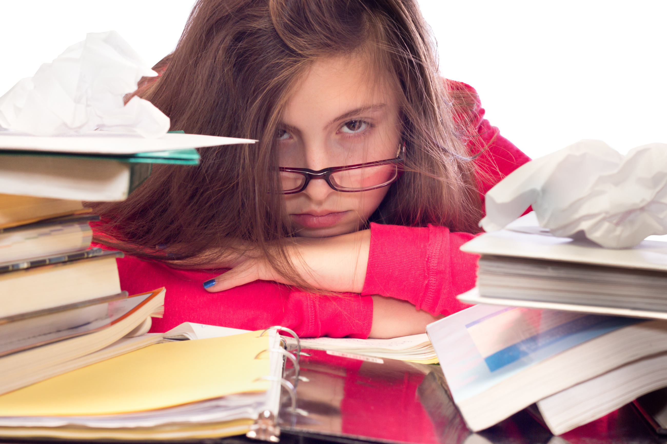 Exam stress for teenagers