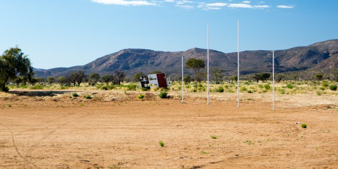 Sports ground in remote Australia
