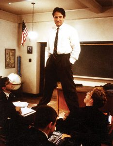 Robin Williams as John Keating in Dead Poets' Society