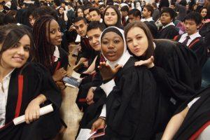 Graduation celebration at Holroyd High