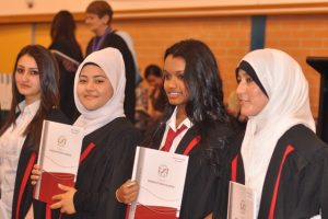 Graduation celebration at Holroyd High