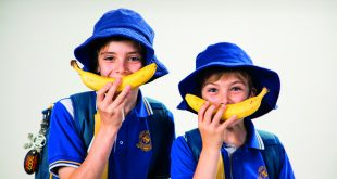 Kids going bananas! Photo courtesy of Cancer Council Queensland