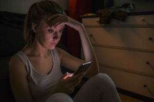 Teenage girl cyber bullying victim