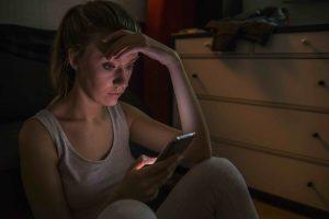 Teenage girl cyber bullying victim