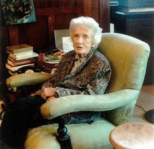 Margaret E Lyttle in her sitting room at Arlington