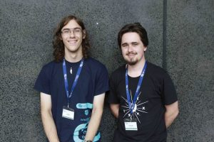 Luke Tuthill and James Wright from the Gosford High School team.