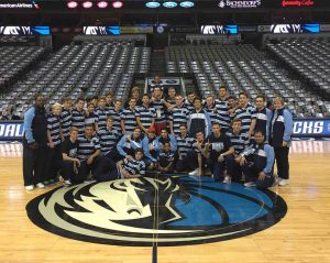 The Kings School after their training session with the Dallas Mavericks Academy. Photo: Horizons Sports Tours