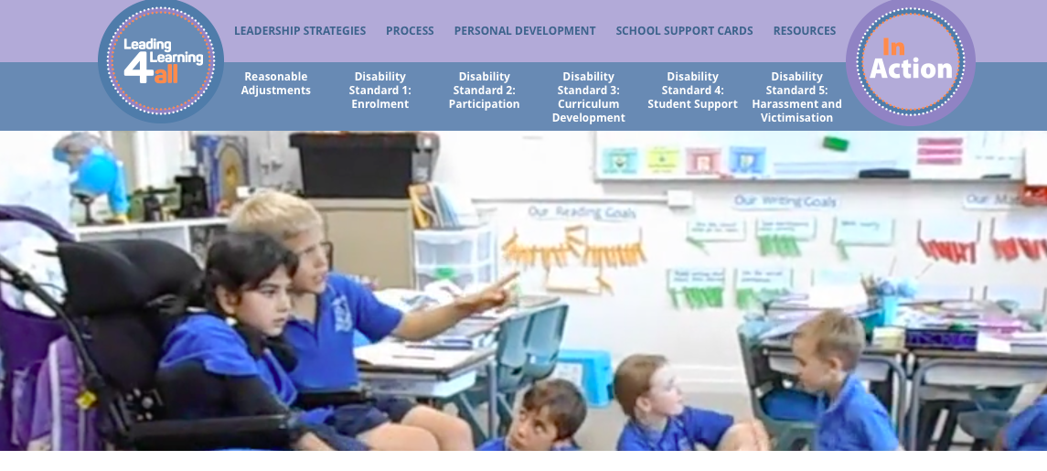 Leading Learning 4 All in action (website screenshot).