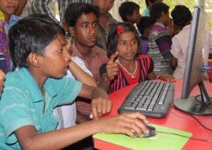 Children in the Gocharan SOLE, India