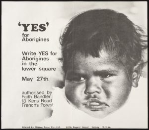 Poster for the Indigenous referendum, 1967. National Museum of Australia.
