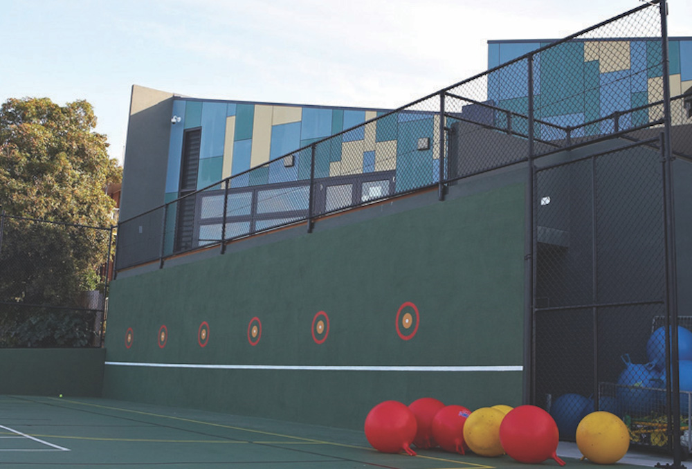 Fencing with various height requirements at City Rd School. Photo: Lee Brothers Group Fencing