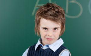 school kid with attitude