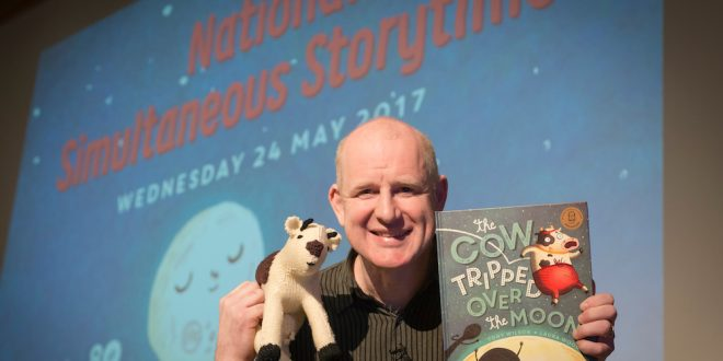Author Tony Wilson, at the official launch, Royal Children's Hospital