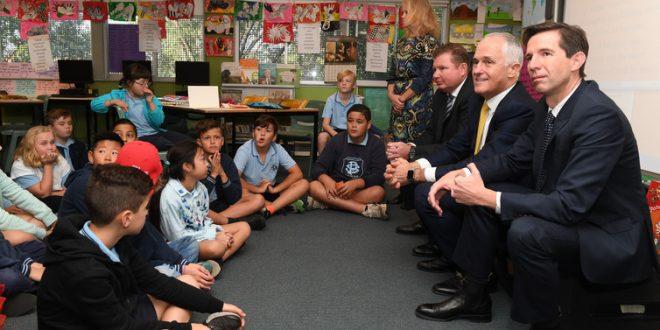 simon birmingham malcolm turnbull schools
