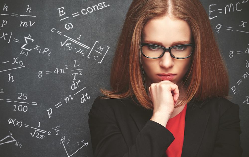 girl student, physics