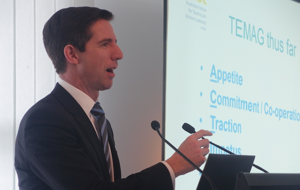 TEMAG meets: Opening address by Minister Simon BIrmingham.