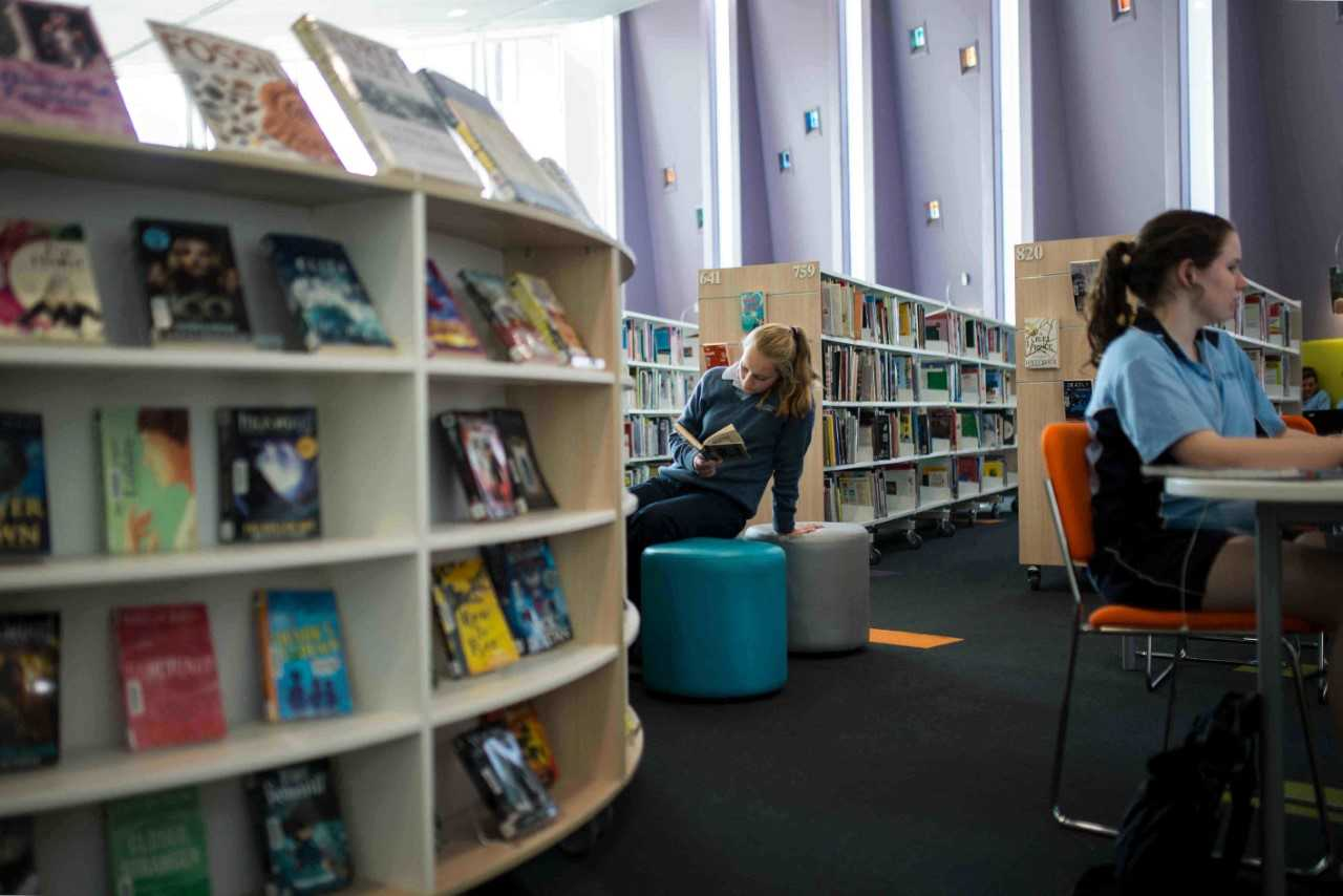 Photo of A library upgrade caters to students' contemporary taste.