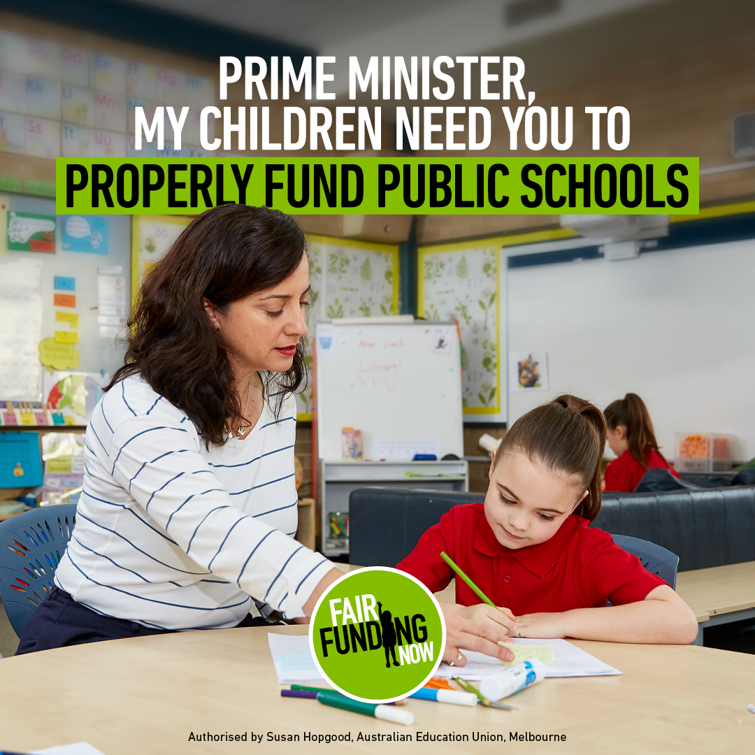 Photo of Australian Education Union launches new 'Fair Funding' campaign against ScoMo cuts