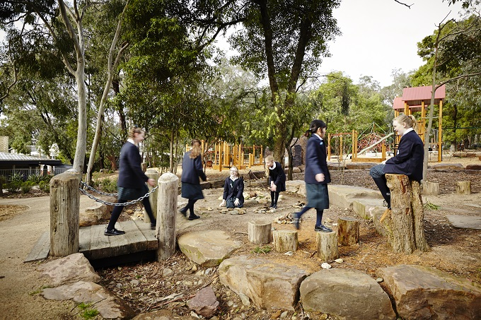 Photo of A living playground: school-designed nature play
