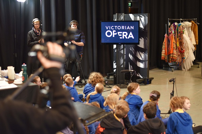 Photo of Primary school students learning opera