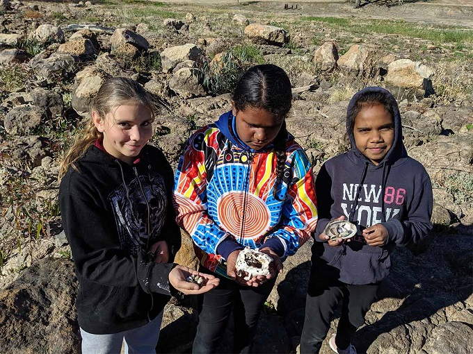 Photo of School project maps Aboriginal heritage site