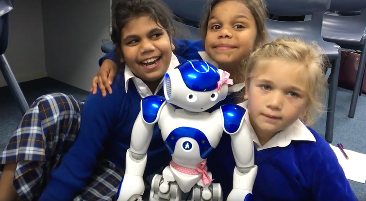 Photo of How a robot called Pink helped teach school children an Aboriginal language