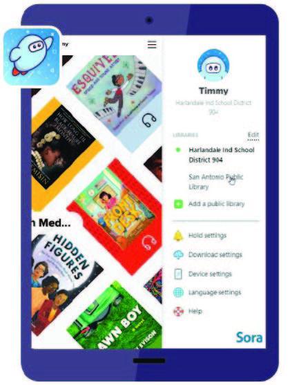Photo of Sora reading app digitally links Harlandale ISD & San Antonio Public Library