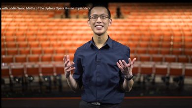 Photo of YouTube maths hero Eddie Woo explains the maths of the Sydney Opera House